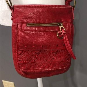 Crossbody faux leather bag